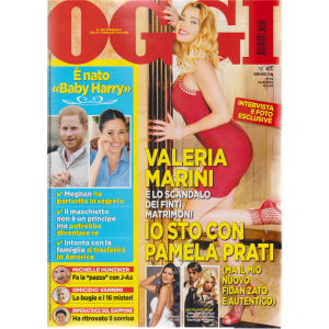 Oggi - Valeria Marini - n. 19 - 16/5/2019 - settimanale