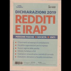 Guida normativa - il sole 24 ore - Dichiarazioni 2019 redditi e Irap - n. 3 - maggio 2019 - mensile -
