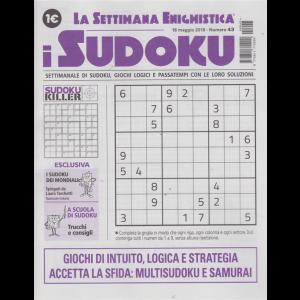 La settimana enigmistica - i sudoku - n. 43 - 16 maggio 2019 -