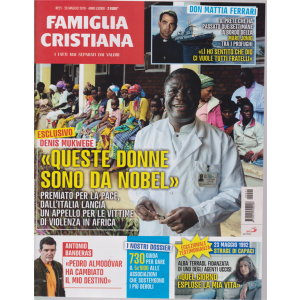 Famiglia Cristiana - n. 21 - 26 maggio 2019 - settimanale