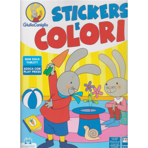 Giulio Coniglio Stickers e colori - n. 2 - giugno - luglio 2019 - bimestrale -