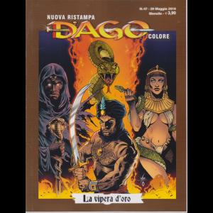 N.Ristampa Dago Colore - La vipera d'oro - n. 47 - 29 maggio 2019 - mensile