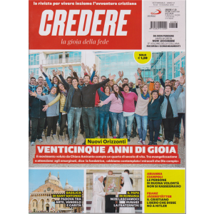 Credere - La Gioia Della Fede - n. 23 - settimanale - 9 giugno 2019 -