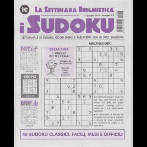 La settimana enigmistica - i sudoku - n. 47 - 13 giugno 2019 - settimanale