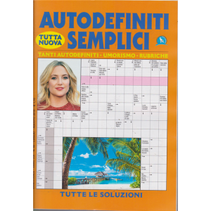 Autodefiniti. Semplici - n. 93 - bimestrale - luglio - agosto 2019 -