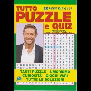 Tutto Puzzle E Quiz - n. 62 - bimestrale - luglio - agosto 2019 - 68 pagine