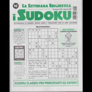 La settimana enigmistica - i sudoku - n. 48 - 20 giugno 2019 - settimanale