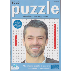 Solo Puzzle - n. 149 - bimestrale - 24/6/2019 - Luca Argentero