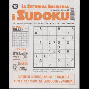 La settimana enigmistica - i sudoku - n. 49 - 27 giugno 2019 - settimanale