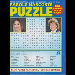 Parole Nascoste Puzzle - n. 66 - trimestrale - luglio - settembre 2019 - 100 pagine