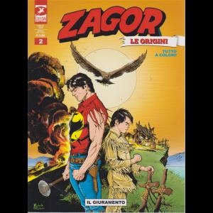 Zagor Gigante  le origini - Il Giuramento - n. 2 - mensile - luglio 2019 -