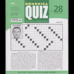 Domenica Quiz - n. 28 - 11 luglio 2019 - settimanale