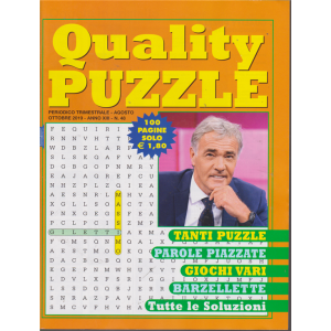 Quality Puzzle - n. 48 - trimestrale - agosto - ottobre 2019 - 100 pagine