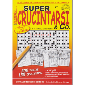 Supercrucintarsi & Co. n. 41 - luglio - agosto 2019 - bimestrale - 200 pagine - 130 crucintarsi