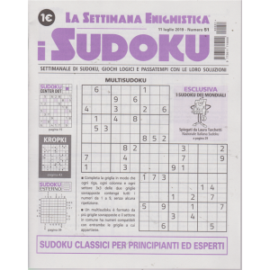 La settimana enigmistica - i sudoku - n. 51 - 11 luglio 2019 - settimanale