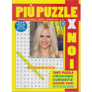 Piu' Puzzle Per Noi - n. 76 - agosto - ottobre - 2019 - 324 pagine