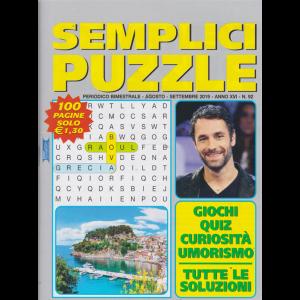 Semplici Puzzle - n. 92 - bimestrale - agosto - settembre 2019 - 100 pagine