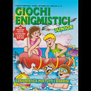 Giochi Enigmistici junior - n. 72 - bimestrale - agosto - settembre 2019 - 52 pagine tutte a colori
