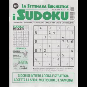 La settimana enigmistica - i sudoku - n. 52 - 18 luglio 2019 - settimanale