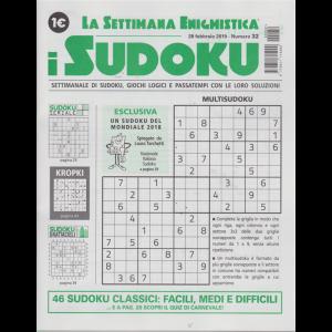 La settimana enigmistica - i sudoku - n. 32 - 28 febbraio 2019 - settimanale