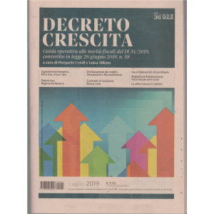 Decreto crescita - n. 3 - luglio 2019 - mensile