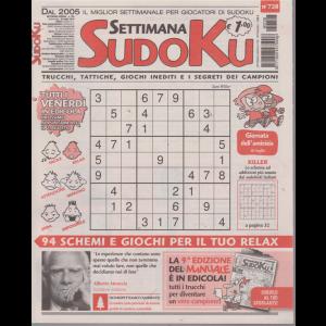 Settimana Sudoku - n. 728 -settimanale - 26 luglio 2019 -
