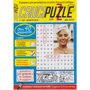 Crucipuzzle - n. 542 - agosto 2019 - mensile