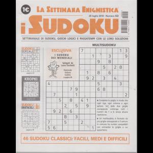 La settimana enigmistica - i sudoku - n. 53 - 25 luglio 2019 - settimanale