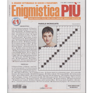 Enigmistica Piu' - n. 30 - 30 luglio 2019 - settimanale