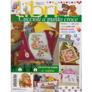 Libri Susanna - Cuccioli a punto croce - n. 19 - trimestrale - 5/2/2019 -