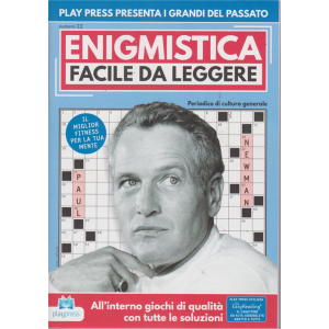 Enigmistica facile da leggere - n. 22 - bimestrale - 29/7/2019 - Paul Newman