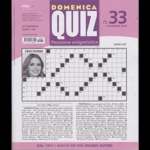 Domenica Quiz - n. 33 - 14 agosto 2019 - settimanale