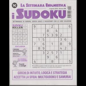 La settimana enigmistica - i sudoku - n. 55 - 8 agosto 2019 - settimanale