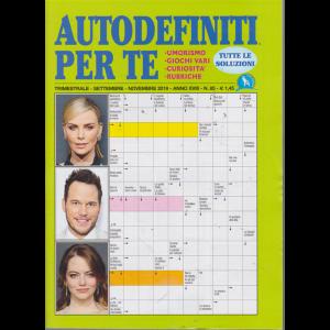 Autodefiniti Per Te - n. 85 - triestrale - settembre - novembre 2019 -