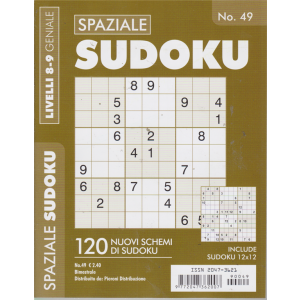 Spaziale Sudoku - n. 49 - bimestrale - 120 nuovi schemi di sudoku -