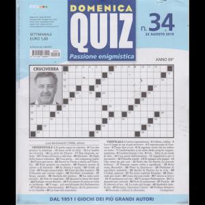 Domenica Quiz - n. 34 - 22 agosto 2019 - settimanale