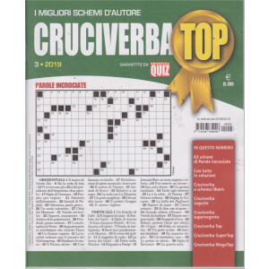 Cruciverba Top - n. 3 - 20/8/2019 - trimestrale -