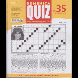 Domenica Quiz - n. 35 - 29 agosto 2019 - settimanale