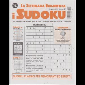 La settimana enigmistica - I sudoku - n. 57 - 22 agosto 2019 - settimanale