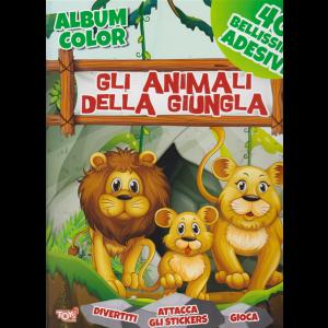 Album color -  Gli  animali della giungla - n. 47 - bimestrale - 29 agosto 2019 -