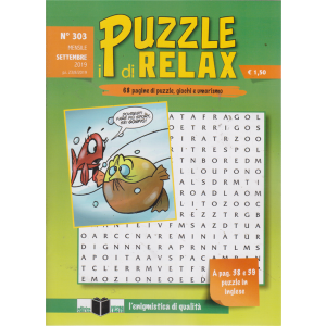 I Puzzle Di Relax - n. 303 - mensile - settembre 2019 -