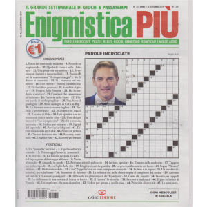 Enigmistica Piu' - n. 35 - 3 settembre 2019 - settimanale