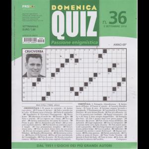 Domenica Quiz - n. 36 - settimanale - 5 settembre 2019