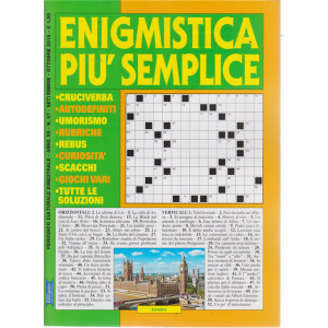 Enigmistica Piu' Semplice - n. 57 - bimestrale - settembre - ottobre 2019 -