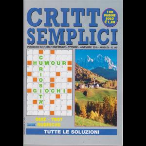 Critto Semplici - n. 145 - bimestrale - ottobre - novembre 2019 - 100 pagine