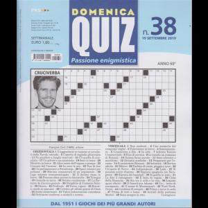 Domenica Quiz - n. 38 - 19 settembre 2019 - settimanale