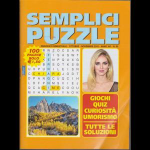 Semplici Puzzle - n. 93 - bimestrale - ottobre - novembre 2019 - 100 pagine