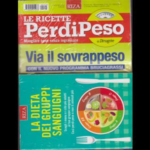 Le ricette perdipeso - n. 90 - mensile - marzo 2019 - + La dieta dei gruppi sanguigni - rivista + libro