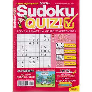 Sudoku Quiz - n. 24 - settembre - ottobre 2019 - bimestrale
