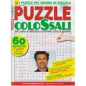 Puzzle Colossali - n. 16 - ottobre 2019 - mensile